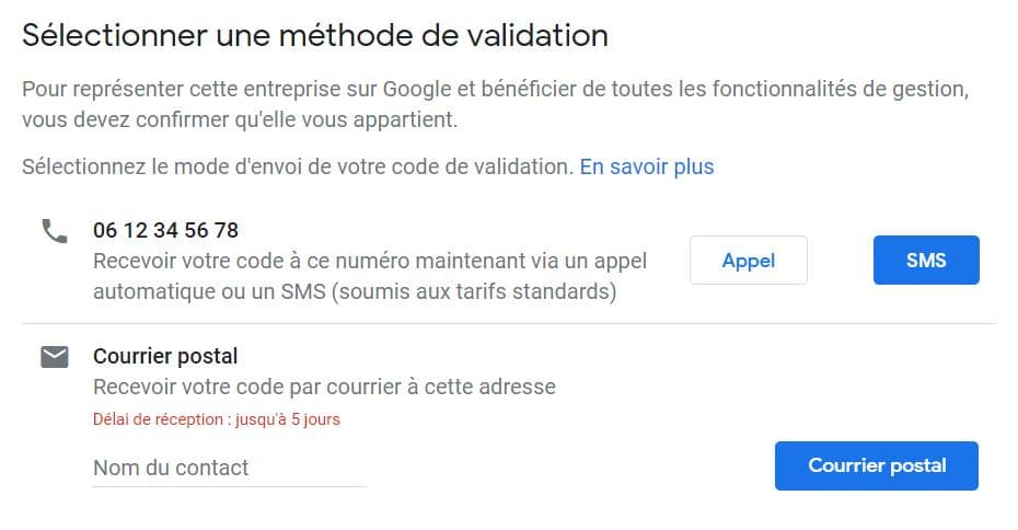 GMB validation