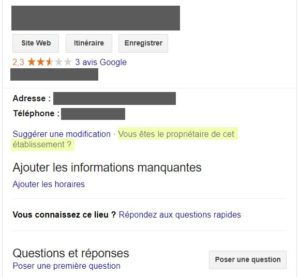 Fiche Google my Business - référencement local