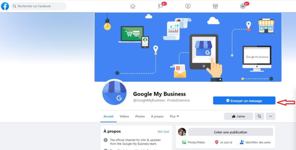 Google My Business sur Facebook